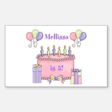 Personalized Birthday Girl Decal