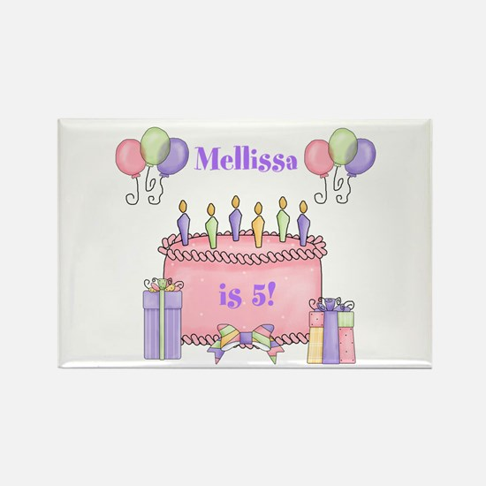 Personalized Birthday Girl Rectangle Magnet
