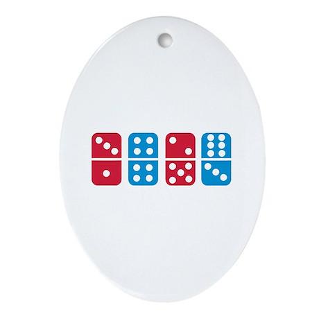 Domino Ornament (Oval)