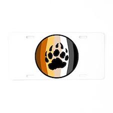 Bear Ball Aluminum License Plate