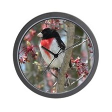 Rose-breasted Grosbeak Wall Clock
