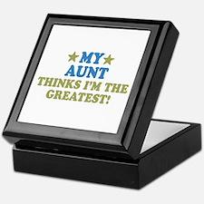 Greatest Aunt Keepsake Box
