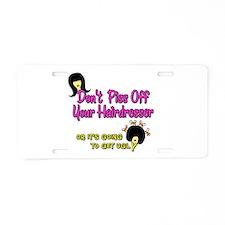 Cute Hairdresser Aluminum License Plate