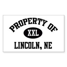 Property of Lincoln Rectangle Decal