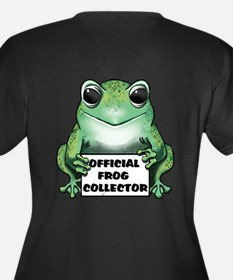 Frog Collector Women's Plus Size V-Neck Dark T