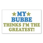 Greatest Bubbe Sticker (Rectangle 50 pk)