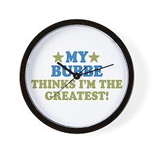 Greatest Bubbe Wall Clock