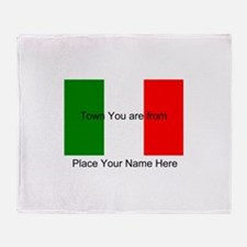 Personalized Flag Throw Blanket
