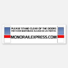 MonorailExpress-Bumper Bumper Bumper Sticker