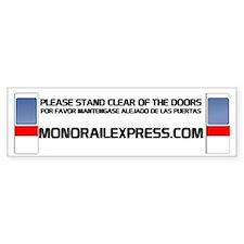 MonorailExpress-Bumper Bumper Sticker