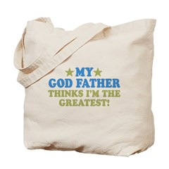 Greatest God Father Tote Bag