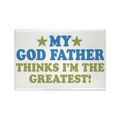 Greatest God Father Rectangle Magnet (10 pack)