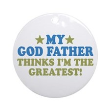 Greatest God Father Ornament (Round)