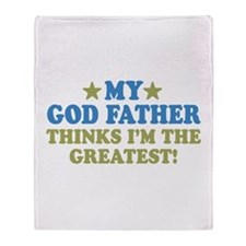 Greatest God Father Throw Blanket
