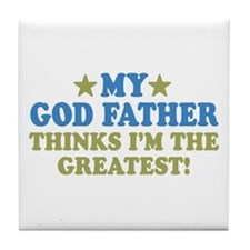 Greatest God Father Tile Coaster