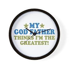 Greatest God Father Wall Clock