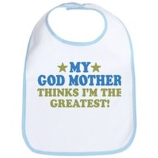 Greatest God Mother Bib