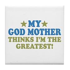 Greatest God Mother Tile Coaster