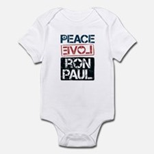 Peace Love Ron Paul Infant Bodysuit
