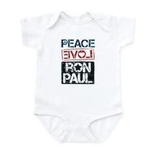 Peace Love Ron Paul Onesie