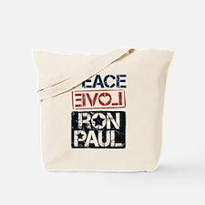 Peace Love Ron Paul Tote Bag