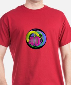 Psychedelic 40th Birthday T-Shirt