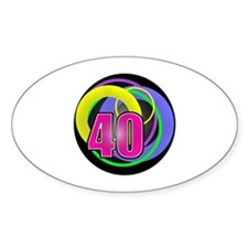 Psychedelic 40th Birthday Decal