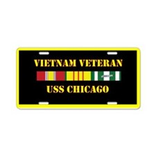 USS Chicago Aluminum License Plate