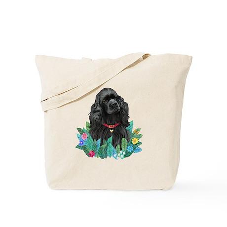 Leaves #1 - Cocker (blk) Tote Bag