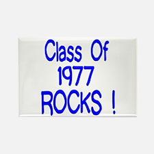 1977 blue Rectangle Magnet