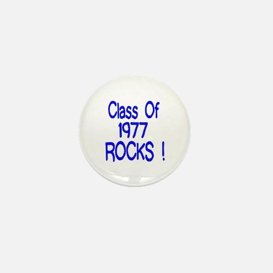 1977 blue Mini Button