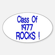 1977 blue Oval Decal