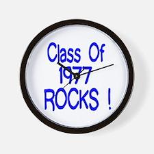 1977 blue Wall Clock