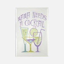 Mama Needs a Cocktail Rectangle Magnet