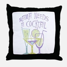 Mama Needs a Cocktail Throw Pillow