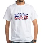 All American Dad #1 White T-Shirt