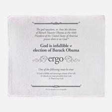 There is no God Throw Blanket