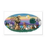 StFrancis-Dogs-Cats-Horse 22x14 Wall Peel