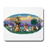 StFrancis-Dogs-Cats-Horse Mousepad