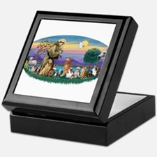 StFrancis-Dogs-Cats-Horse Keepsake Box
