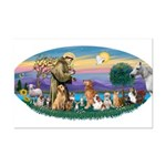 StFrancis-Dogs-Cats-Horse Mini Poster Print