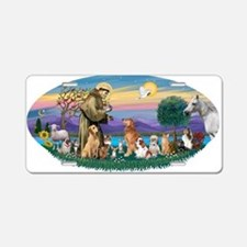 StFrancis-Dogs-Cats-Horse Aluminum License Plate