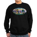 StFrancis-Dogs-Cats-Horse Sweatshirt (dark)