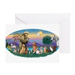 StFrancis-Dogs-Cats-Horse Greeting Card
