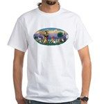 StFrancis-Dogs-Cats-Horse White T-Shirt