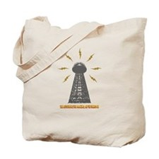 The Death Ray Tower and Title Tote Bag