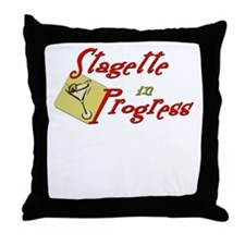 Stagette in Progress Throw Pillow