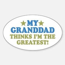 Greatest Granddad Sticker (Oval)