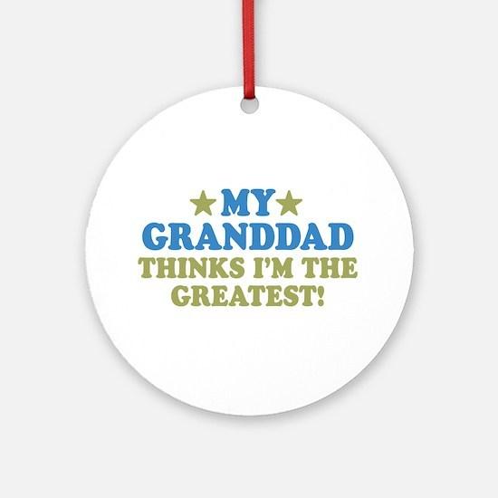 Greatest Granddad Ornament (Round)