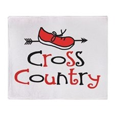 Cross Country Shoe Throw Blanket
